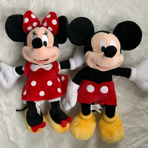 """Disney Minnie Mouse & Mickey Mouse 18"""" stuffed toy"""